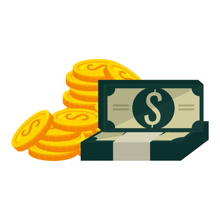 money dollars finance icons vector illustration design