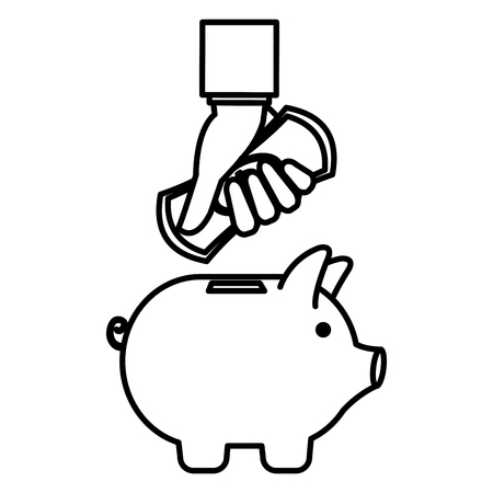 piggy savings economy icons vector illustration design 스톡 콘텐츠 - 104229874