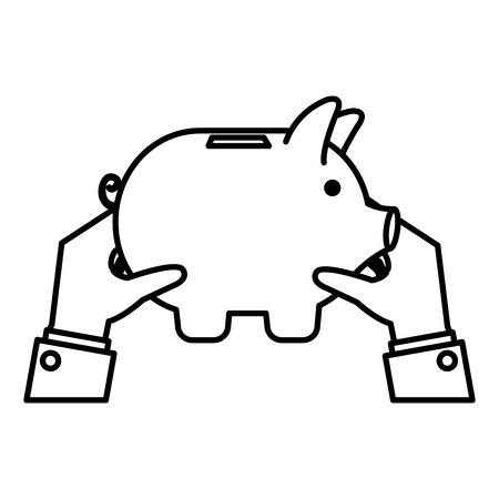 piggy savings economy icons vector illustration design 스톡 콘텐츠 - 104229880