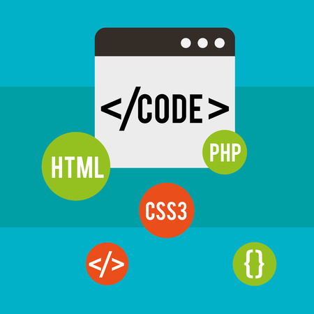 program code website language css3 html vector illustration