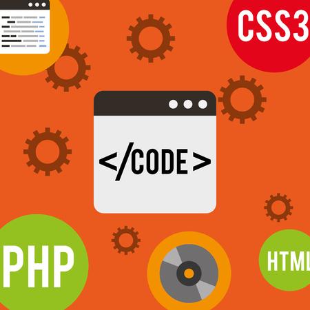 program coding website structure technology vector illustration Illustration