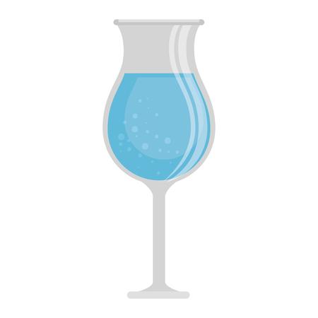 fresh beverage in cup vector illustration design