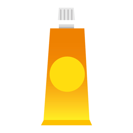 cream tube product icon vector illustration design Ilustração