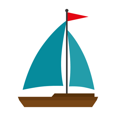 sailboat travel isolated icon vector illustration design Stok Fotoğraf - 115099027