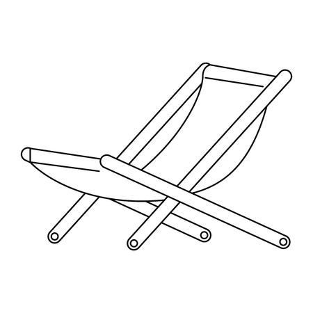 wooden beach chair icon vector illustration design Banco de Imagens - 115099045