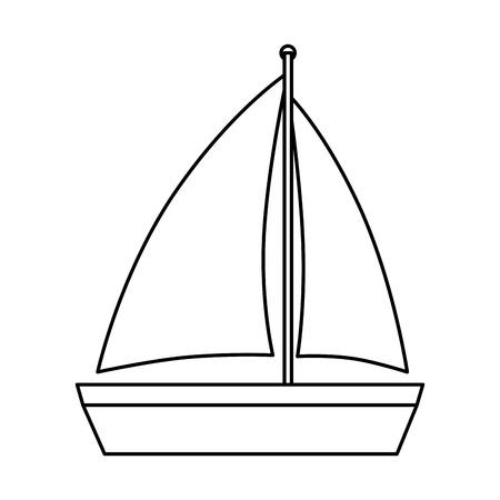 sailboat travel isolated icon vector illustration design