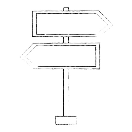 route wooden arrows signal vector illustration design Illustration