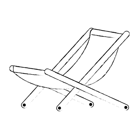 wooden beach chair icon vector illustration design
