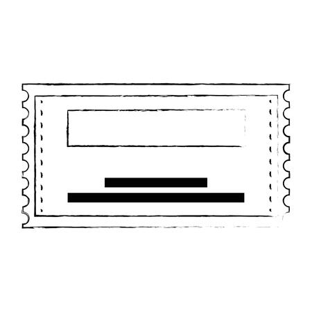 paper ticket entrance icon vector illustration design Standard-Bild - 115104360