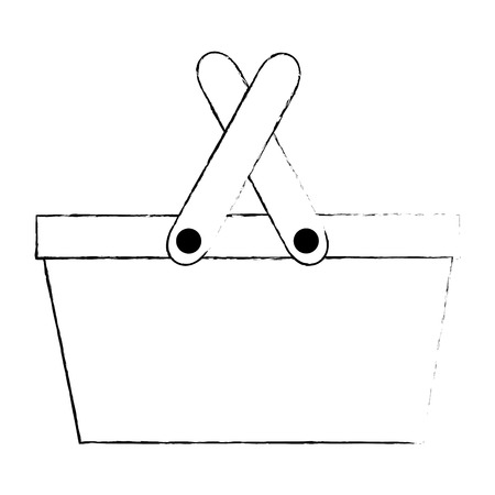 picnic basket empty icon vector illustration design
