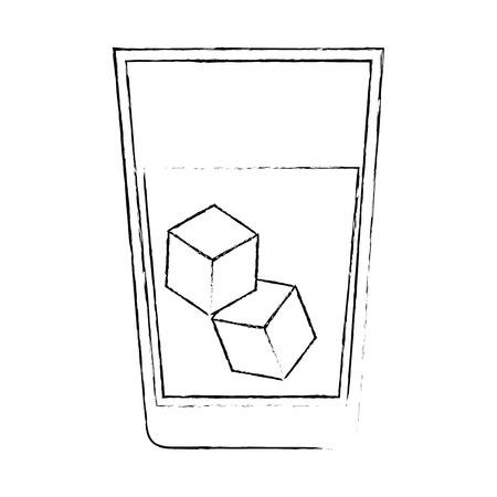 fresh beverage in glass vector illustration design