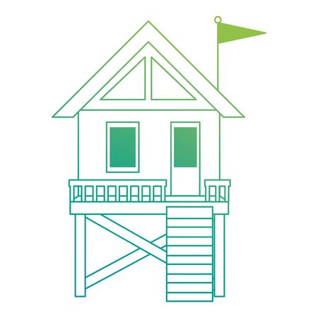 baywatch booth building icon vector illustration design Stock fotó - 104245838