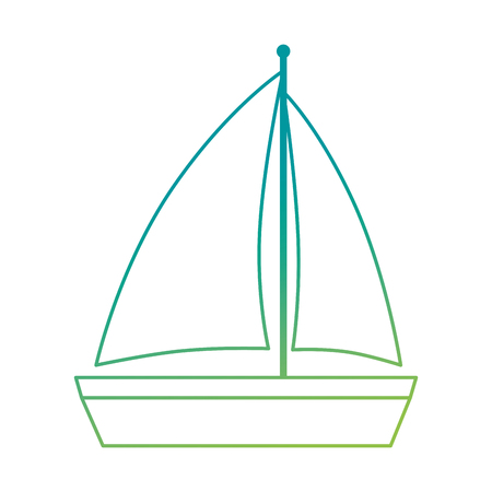 sailboat travel isolated icon vector illustration design