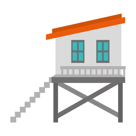 baywatch booth building icon vector illustration design Archivio Fotografico - 104245849