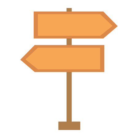 route wooden arrows signal vector illustration design Ilustrace