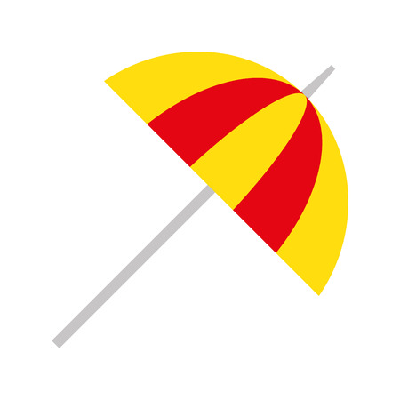 umbrella beach isolated icon vector illustration design