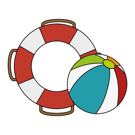beach balloon with float vector illustration design Illustration