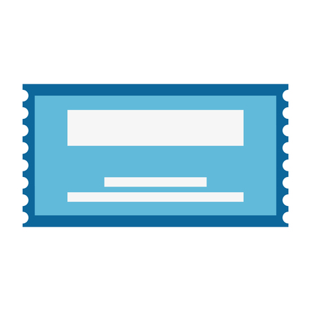 paper ticket entrance icon vector illustration design