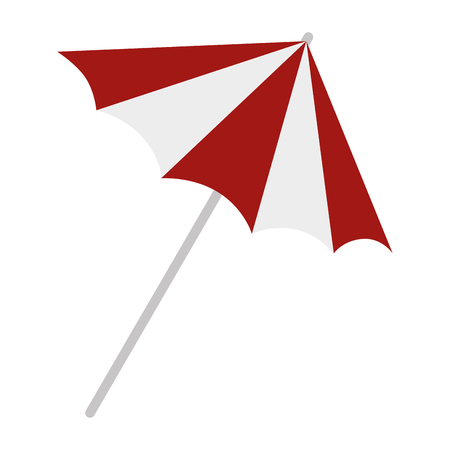umbrella beach isolated icon vector illustration design Banque d'images - 115104431
