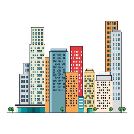 cityscape buildings scene icons vector illustration design Archivio Fotografico - 104246449