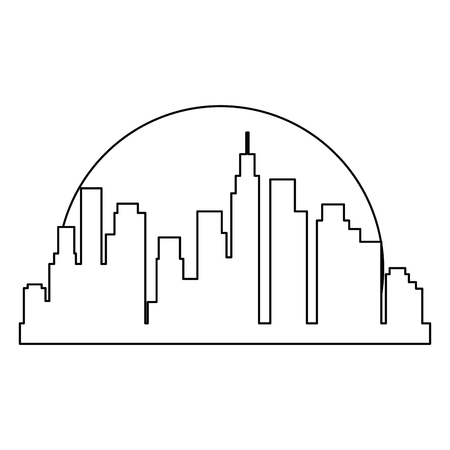 cityscape buildings silhouette scene vector illustration design Archivio Fotografico - 104246616