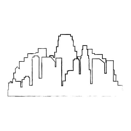 cityscape buildings silhouette scene vector illustration design Archivio Fotografico - 104246805
