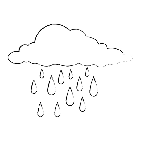 clouds rain weather icon vector illustration design