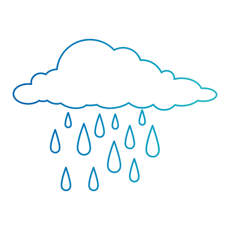 clouds rain weather icon vector illustration design