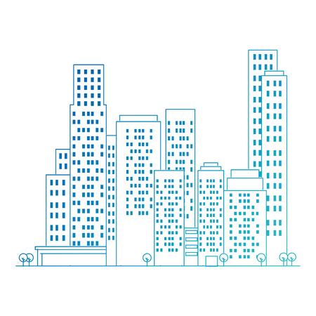 cityscape buildings scene icons vector illustration design Archivio Fotografico - 104246819