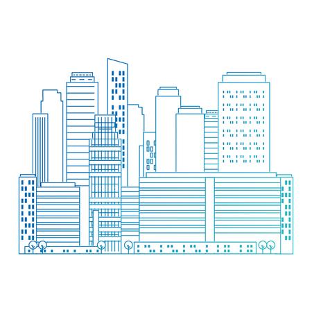 cityscape buildings scene icons vector illustration design Archivio Fotografico - 104246820