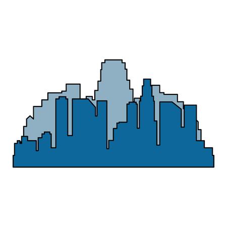 cityscape buildings silhouette scene vector illustration design Archivio Fotografico - 104246954
