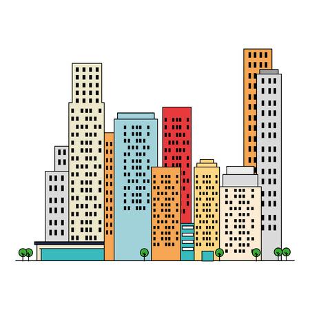 cityscape buildings scene icons vector illustration design Archivio Fotografico - 104246955