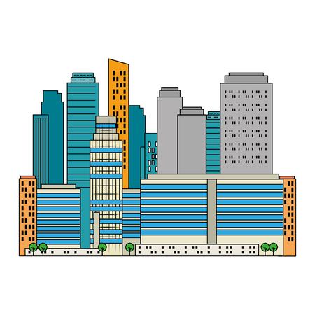 cityscape buildings scene icons vector illustration design Archivio Fotografico - 104246956