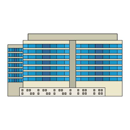 big building facade icon vector illustration design Ilustrace