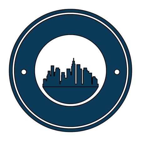 cityscape buildings silhouette scene vector illustration design Archivio Fotografico - 104246966
