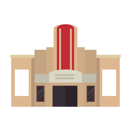 casino building facade icon vector illustration design