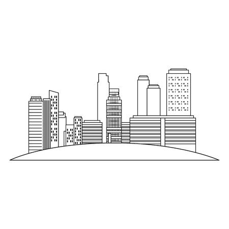 cityscape buildings scene icons vector illustration design Archivio Fotografico - 104246994