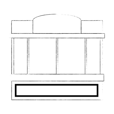 window of store front vector illustration design Illusztráció