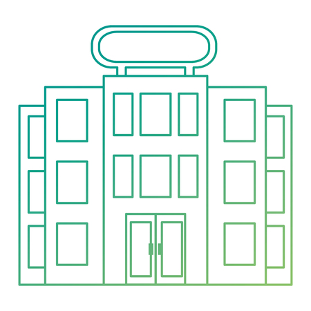 building hotel facade icon vector illustration design Ilustrace