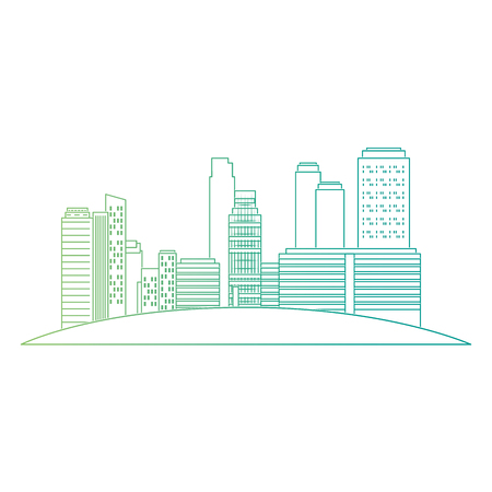 cityscape buildings scene icons vector illustration design Archivio Fotografico - 104247029