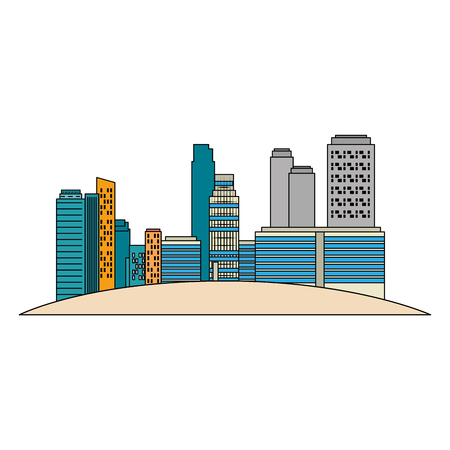 cityscape buildings scene icons vector illustration design Archivio Fotografico - 104247045