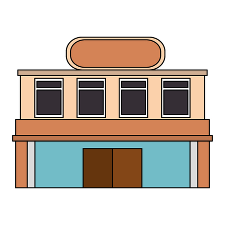 building hotel facade icon vector illustration design Çizim