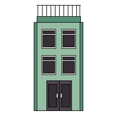 big building facade icon vector illustration design Illustration