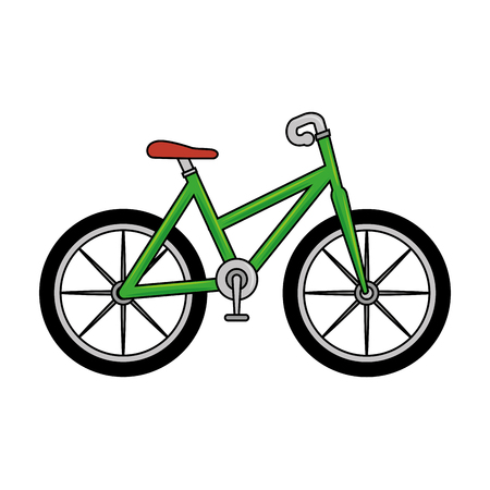 bicycle ecology transport icon vector illustration design