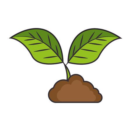 Pflanzen- und Bodenökologie-Vektorillustrationsdesign