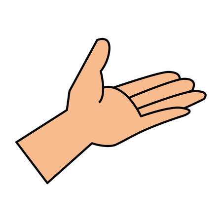 hand human receiving icon vector illustration design 일러스트