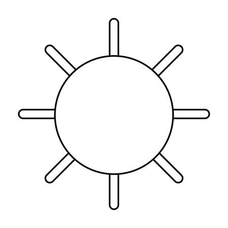 summer sun isolated icon vector illustration design Standard-Bild - 115075852