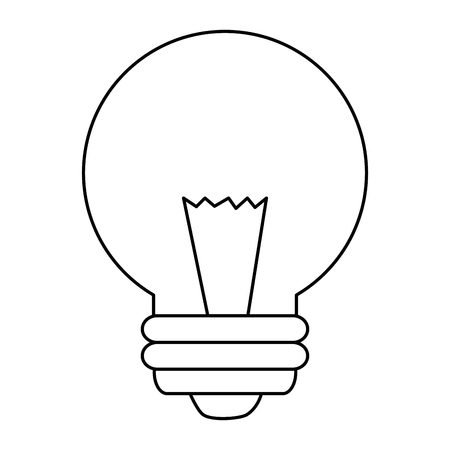 bulb light energy icon vector illustration design