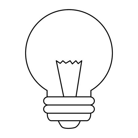 bulb light energy icon vector illustration design