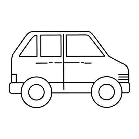car sedan isolated icon vector illustration design